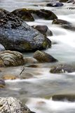 Winter Stream. Close up of water running through a stream Royalty Free Stock Images