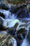 Winter stream. Slow-shutter effect of an icy, winter stream stock photography