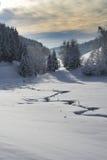 Winter stream Stock Photos