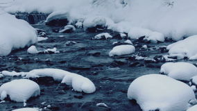 Winter stream stock footage