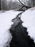 Winter Stream Scene in Illinois Stock Photo