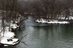 Winter stream Stock Photo