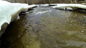 Winter stream stock video footage