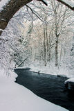 Winter Stream. Winter time snow in Canada Stock Images