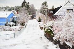 Winter street stock images