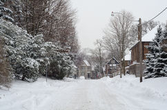 Winter Street Stock Photos