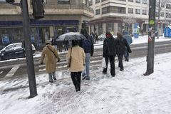 Winter street Stock Photography