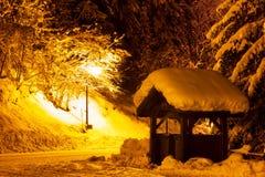 Winter street light Royalty Free Stock Photos