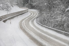 Winter street road Royalty Free Stock Photo