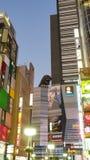 Winter Street Scene in Shinjuku ward royalty free stock image