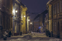 Winter street view Royalty Free Stock Photos