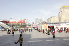 The winter street view in XiangYang city(hubei, china) Royalty Free Stock Photography
