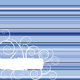 Winter stripe blue Stock Photography