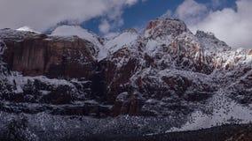 Winter-Sturm meldet Zion National Park an stock footage
