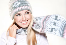 Winter style. North beauty. Stock Photography
