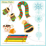Winter style stuff Royalty Free Stock Photo