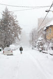 Winter in suburbs Royalty Free Stock Image