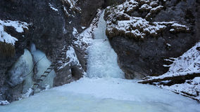 Winter in Sucha Bela gorge , Slovensky raj National park , Slovakia Royalty Free Stock Photos