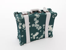 Winter suitcase Stock Photos