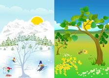 Winter - summer Royalty Free Stock Photo