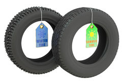 Winter and summer tires Stock Image