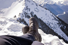 Winter Summit Boots Royalty Free Stock Photos