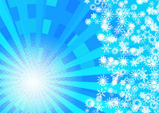 Winter sun background Royalty Free Stock Photo