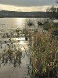 Winter Sun on Blagdon Lake stock images