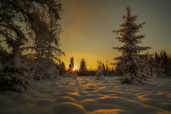 Winter sun down Royalty Free Stock Images