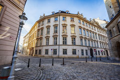 Winter sun in historical center of Vienna Royalty Free Stock Images