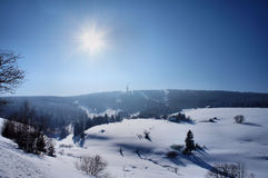 Winter Sun In The Erzgebirge Stock Image