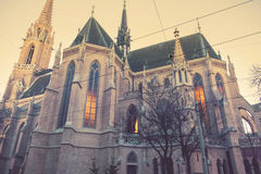 Winter sun light by Othmar Church, Vienna Royalty Free Stock Photos