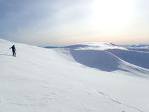 Winter sun over Glas Maol, Glenshee, Highlands, Scotland Stock Photos