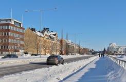 Winter sun over Luleå Royalty Free Stock Photo