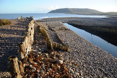Winter sun at Porlock Weir Someset Stock Photography