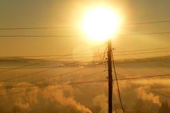 Winter sun Stock Photos