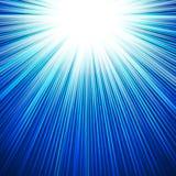 Winter sun shiny cool blue background. Winter  cold sun, sky cool blue vector  background Royalty Free Stock Image