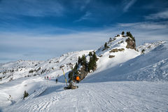 Winter sunny day in the Alps Stock Photos