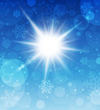 Winter sunny day background. Vector illustration Royalty Free Stock Image