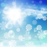 Winter sunny day background Stock Image
