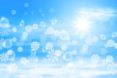 Winter sunny day background Stock Photos
