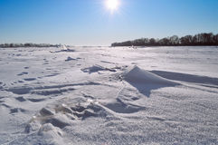 Winter sunny landscape Stock Photo
