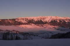 Winter sunrise Stock Images
