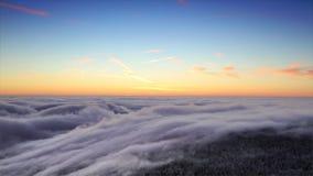 Winter sunrise stock video footage