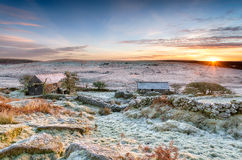 Winter Sunrise on Bodmin Moor Stock Photography