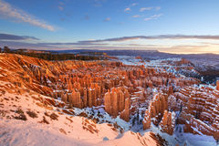 Winter Sunrise at Bryce Canyon National Park Stock Image