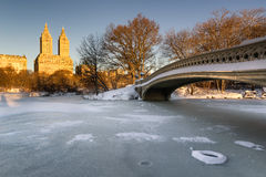 Winter Sunrise on Central Park and Upper West Side, NYC Royalty Free Stock Images