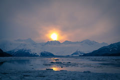 Winter Sunrise. A cold Alaskan winter sunrise Royalty Free Stock Photos