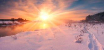 Winter sunrise Royalty Free Stock Images