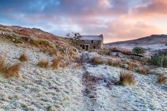 Winter Sunrise on Garrow Tor Royalty Free Stock Photo